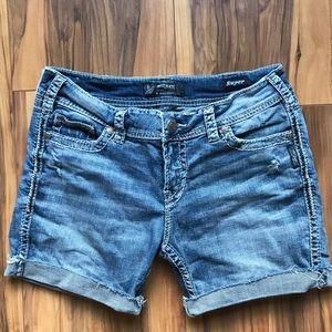 Silver Suki Cutoff Jean Shorts